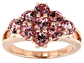 Pre-Owned Masasi Bordeaux Garnet™ 18k rose gold over sterling silver ring 2.52ctw