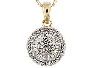 Pre-Owned White Diamond 10k Yellow Gold Pendant .25ctw