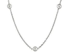 Pre-Owned Moissanite Platineve 24 Inch Necklace 2.07ctw D.E.W