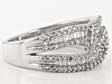 Pre-Owned Rhodium Over Sterling Silver Diamond Ring .75ctw