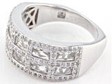 Pre-Owned White Cubic Zirconia Platineve Ring 3.87ctw
