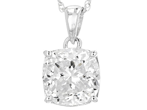 Pre-Owned Moissanite Platineve Pendant 2.80ct D.E.W