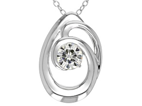 Pre-Owned Moissanite Platineve Pendant .60ct DEW