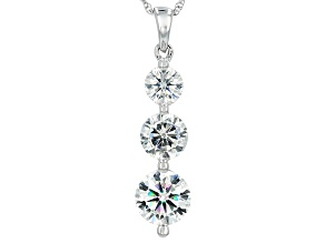 Pre-Owned Moissanite Platineve Pendant 2.50ctw DEW
