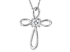 Pre-Owned Moissanite Cross Pendant Platineve™ .41ct DEW