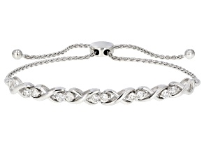 Pre-Owned Moissanite Adjustable Bracelet Platineve™ 1.30ctw DEW