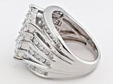 Pre-Owned Cubic Zirconia Silver Ring 4.21ctw