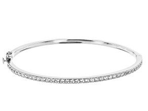 Pre-Owned White Cubic Zirconia Rhodium Over Sterling Silver Bracelet 5.22ctw