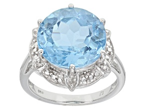 Pre-Owned Sky Blue Topaz Sterling Silver Ring 9.74ctw
