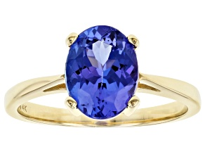 Pre-Owned Blue Tanzanite 14k Yellow Gold Ring 1.90ct