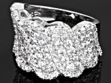 Pre-Owned Cubic Zirconia Rhodium Over Sterling Silver Ring 2.37ctw