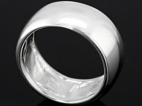 Pre-Owned Sterling Silver High Polished Wide Band Ring