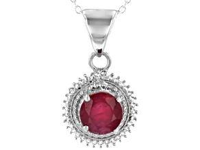 Pre-Owned Red Mahaleo® Ruby Sterling Silver Pendant With Chain 2.08ctw