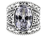 Pre-Owned White Cubic Zirconia Rhodium Over Sterling Ring 13.30ctw