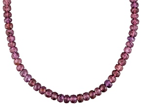 Pre-Owned Grape Color Garnet 14k Yellow Gold Necklace Approximately 67.00ctw