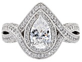 Pre-Owned White Cubic Zirconia Platinenve Ring 3.70ctw