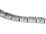 Pre-Owned Multicolor Topaz Sterling Silver Tennis Bracelets 28.00ctw