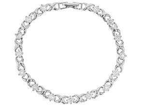 Pre-Owned Moissanite Platineve Bracelet 3.45ctw D.E.W
