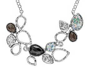 Pre-Owned Smoky Quartz Sterling Silver Necklace .16ctw