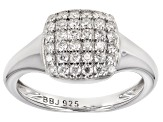 Pre-Owned Moissanite Platineve Ring .72ctw DEW