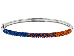 Pre-Owned Preciosa Crystal Blue And Orange Thin Bangle Bracelet