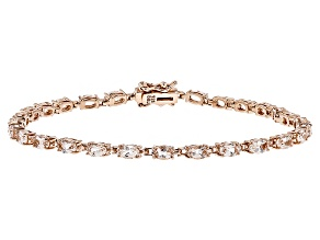 Pre-Owned Peach Morganite 18k Rose Gold Over Sterling Silver Bracelet 5.05ctw