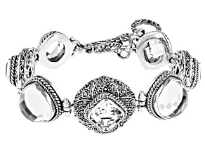 Pre-Owned White Quartz Sterling Silver Bracelet 39.51ctw