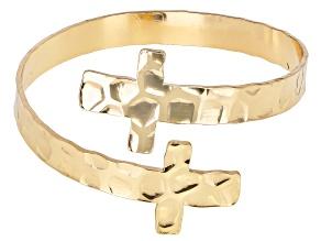 Pre-Owned Gold Tone Cross Bracelet