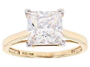 Pre-Owned White Cubic Zicronia 10k Yellow Gold Ring 4.05ctw