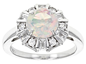Pre-Owned Multicolor Ethiopian Opal Sterling Silver Ring 1.73ctw