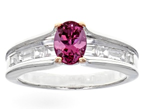 Pre-Owned Pink Garnet Sterling Silver Ring 1.61ctw