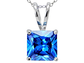 Pre-Owned Bella Luce® Esotica™ 9.56ct Neon Apatite Simulant Sterling Silver Pendant With  Chain