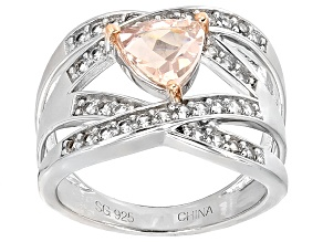 Pre-Owned Pink Morganite Sterling Silver Ring 1.34ctw