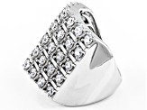 Pre-Owned Cubic Zirconia Silver Ring 4.10ctw (2.10ctw DEW)