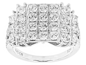 Pre-Owned White Cubic Zirconia Rhodium Over Silver Ring 3.90ctw