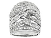 Pre-Owned Cubic Zirconia Silver Ring 3.97ctw (2.38ctw DEW)