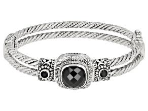 Pre-Owned Black Spinel Silver Bracelet 5.96ctw