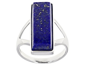 Pre-Owned Blue Lapis Luzuli Sterling Silver Ring.