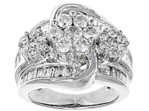 Pre-Owned White Diamond 14k White Gold Ring 3.00ctw
