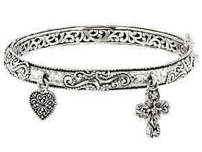 Pre-Owned Sterling Silver Charm Bracelet
