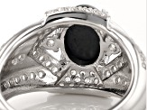 Pre-Owned Blue Star Sapphire Sterling Silver Ring 2.91ctw