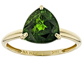 Pre-Owned Green Russian Chrome Diopside 10K Yellow Gold Solitaire Ring 2.30ct