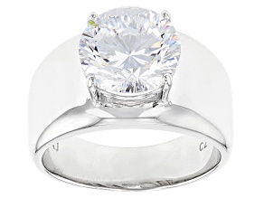 Pre-Owned White Cubic Zirconia Rhodium Over Sterling Silver Ring 6.03ctw