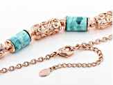 Pre-Owned Turquoise Copper Station Necklace
