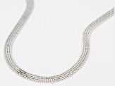 Pre-Owned Sterling Silver 4.5 MM Flat Venitian Box Chain Necklace