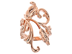Pre-Owned Copper Leaf Ring