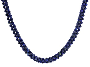 Pre-Owned Blue lapis lazuli silver necklace