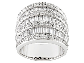 Pre-Owned Cubic Zirconia Sterling Silver Ring 7.78ctw