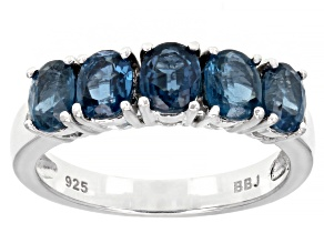 Pre-Owned Blue Chromium Kyanite Rhodium Over Silver Ring 2.05ctw