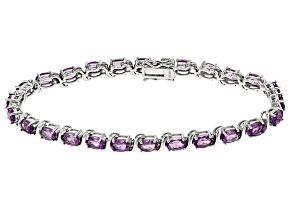 Pre-Owned Purple Uruguayan Amethyst Sterling Silver Bracelet 7.29ctw